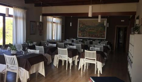 El restaurant de la Pobla, al centre de la població.