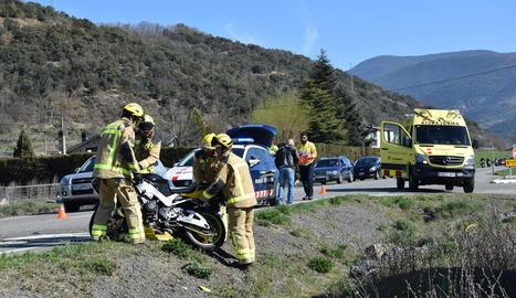 Imatge d'un accident aquest any a l'N-260.