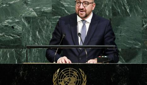 El primer ministre belga, Charles Michel, defensa una UE activa en el conflicte català.