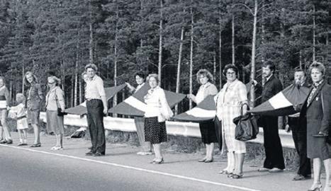 La via bàltica, en la qual Estònia, Letònia i Lituània van aconseguir la independència de l'URSS.