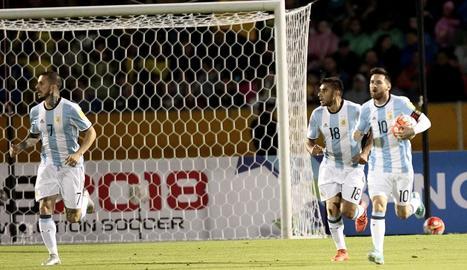 Messi, en l'últim partit que va jugar amb Argentina.