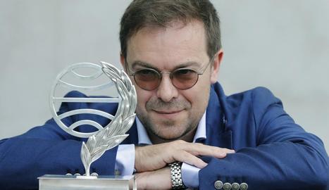 L'escriptor Javier Sierra, guanyador del premi Planeta, ahir.