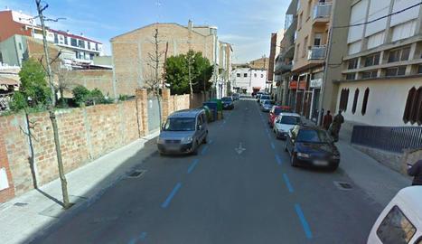 El carrer Crist Rei de Mollerussa.