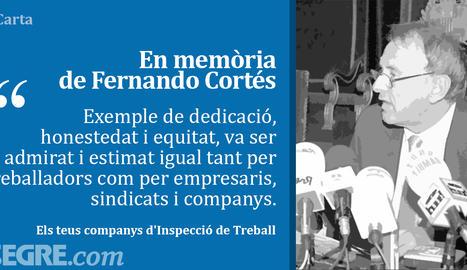 En memòria de Fernando Cortés