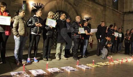 Una manifestació contra la pobresa energètica a Lleida.