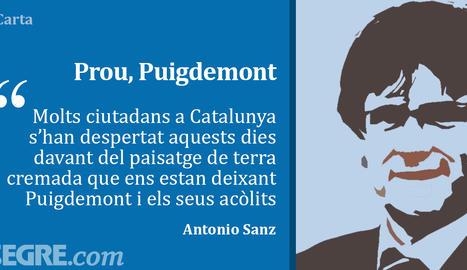 Prou, Puigdemont