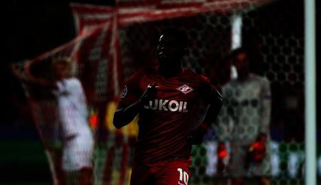 Quincy Promes celebra un dels gols de l'Spartak de Moscou.