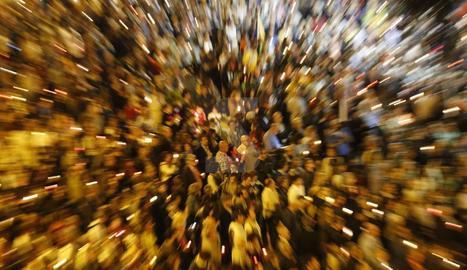 IMATGES. Concentracions per la llibertat de Sànchez i Cuixart