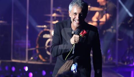 Sergio Dalma en la seua última actuació al teatre lleidatà, el febrer del 2015.