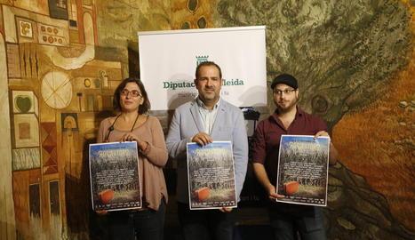 López, Bergós i Planes van presentar ahir el festival.