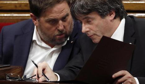 Carles Puigdemont i Oriol Junqueras, el passat dia 10.
