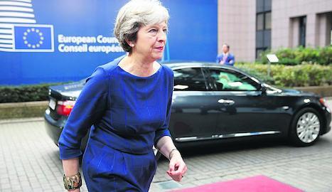 La primera ministra britànica, Theresa May, una de les protagonistes de la cimera, centrada en el Brexit.