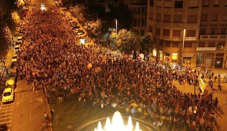 Més d'un miler de lleidatans es manifesten contra el 155
