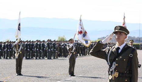 Un dels moment de la jura de bandera ahir a Talarn.