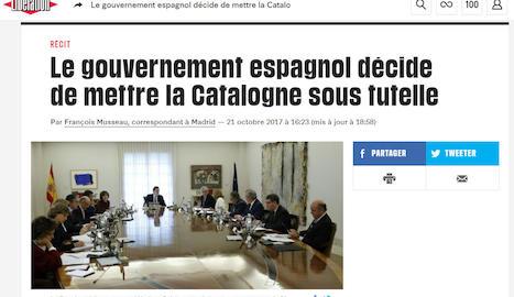 """Sorpresa als digitals - Mitjans internacionals digitals van destacar, com a La Stampa, que """"el desafiament de Rajoy als independentistes no podia ser més aspre""""."""