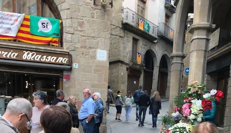 Visitants ahir a la fira Boletus d'Isona i Conca Dellà.