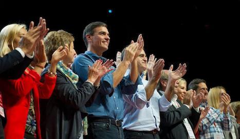 Pedro Sánchez, ahir en el congrés del PSOE de Madrid.