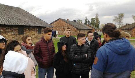 Durant la visita a Austwitchz