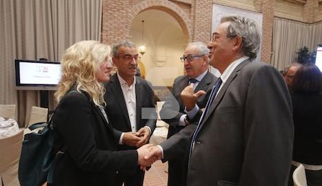 Amb Kim Faura, director general de Telefónica a Catalunya, en el marc dels actes del 35è aniversari del diari SEGRE.
