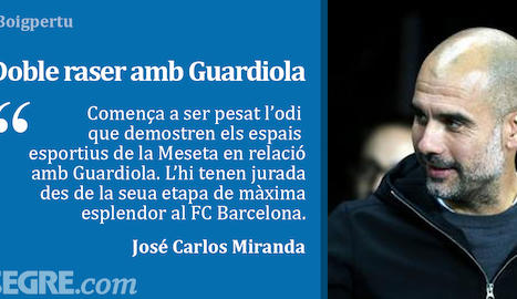 Doble raser amb Guardiola