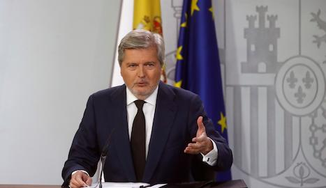 El portaveu del Govern i ministre de Cultura, Íñigo Méndez de Vigo