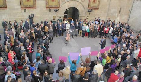 Imatge d'arxiu d'una protesta contra la violència masclista