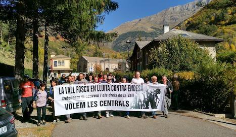 Manifestació de la CUP en suport als veïns demandats.
