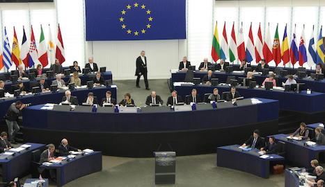 Imatge d'un ple del Parlament Europeu a Brussel·les.