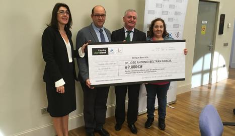 L'acte d'entrega de l'ajuda de la càtedra Agrobank de la UdL.