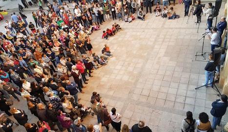 Més de 200 persones es van concentrar a Mollerussa