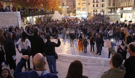 La proclamació simbòlica de la República ahir a Lleida ciutat.