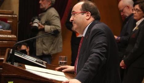 Miquel Iceta, a la Cambra catalana.
