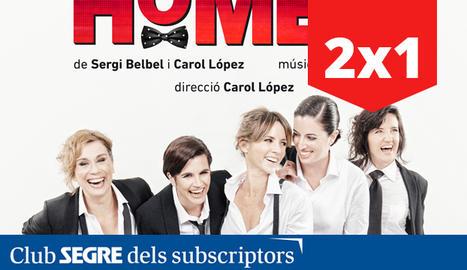 Les cinc protagonistes de l'espectacle 'Homes, la comèdia musical'.