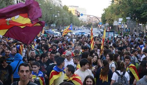 Una vista de la concentració a Lleida.