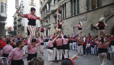 Castellers d'Altafulla, una de les colles convidades.
