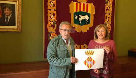 Les Borges aprova el nou escut heràldic
