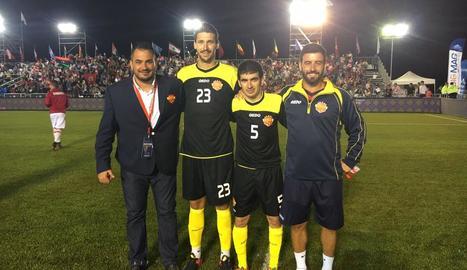 Àngel Castro, Sergi Talavera, Xavi Mallol i Frank Martínez.