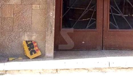 ERC denuncia un acte vandàlic a la seu de la Segarra