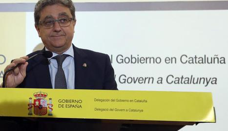 El delegat del Govern estatal a Catalunya, Enric Millo, va informar dels acords del Consell de Ministres.
