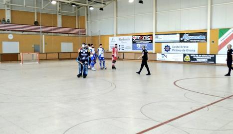 Imagen del partido disputado en Girona.
