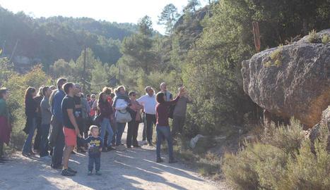 Imatge de la inauguració de la ruta El Camí dels Set Sentits.
