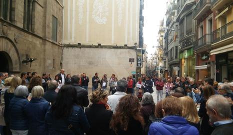 La concentració d'aquest dijous a la plaça Paeria en suport als 'Jordis' i al Govern català.