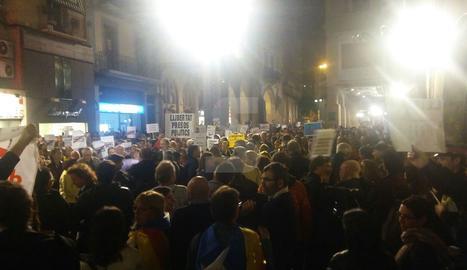 La concentració a la plaça Paeria de Lleida