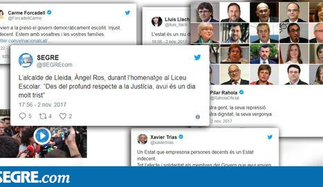 DIRECTE: Reaccions als empresonaments dels consellers