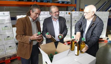 Enric Dalmau, Joan Reñé i Joan Saura, ahir.