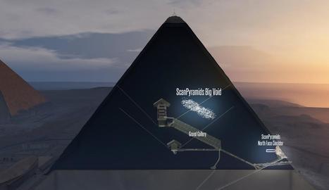 Imatge generada per ordinador de la Gran Piràmide de Keops, a Gizeh (Egipte).