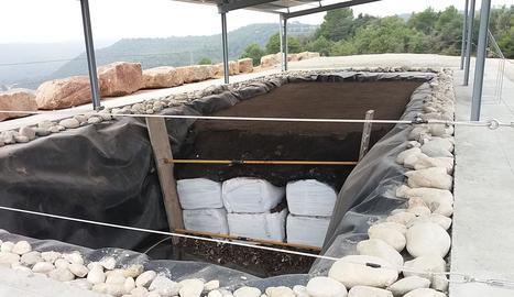 Imatge de les instal·lacions de l'abocador de Clariana de Cardener.