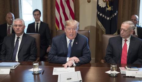 Trump participava en una reunió amb el seu gabinet a la Casa Blanca dimecres passat.