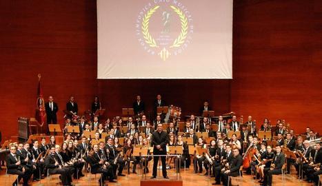 Fotografia oficial de la Banda Simfònica Unió Musical de Lleida.