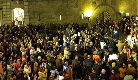 Manifestació a la plaça Paeria aquest divendres